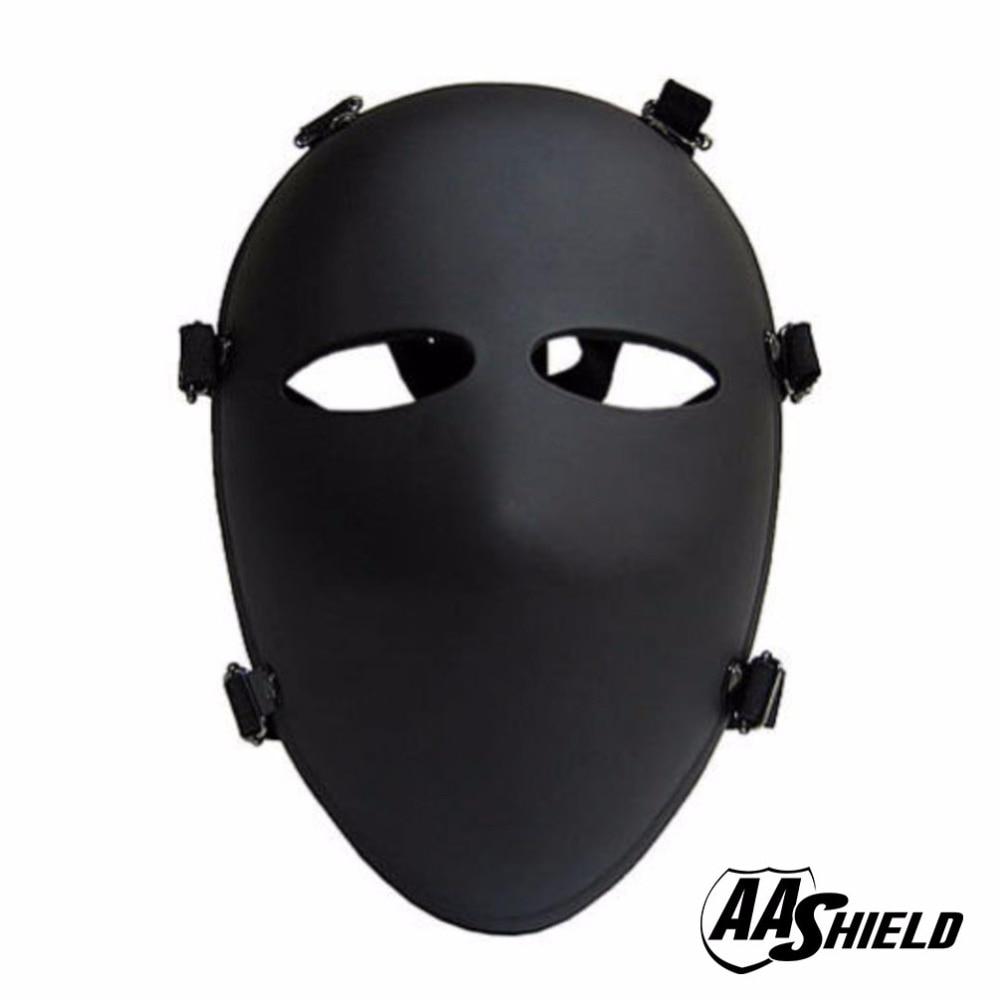 AA Shield Ballistic Visor Bulletproof Full-Face Mask Body Armor Mask NIJ Lvl IIIA 3A Teijin Aramid Code Mask Visor