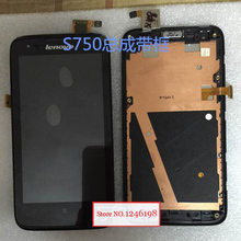 TOP Quality Full LCD Display + Touch Screen Digitizer Assembly with Frame For Lenovo S750 Replacement Parts