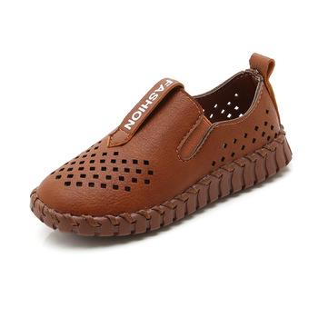 Dziecięce skórzane buty PU dziecięce mokasyny drążą oddychające chłopcy dziewczęce skórzane buty dziecięce mokasyny miękkie dziecięce skórzane buty tanie i dobre opinie 11 t 13 t 12 t 10 t 14 t Pasuje prawda na wymiar weź swój normalny rozmiar childhood lovely Prawdziwej skóry RUBBER