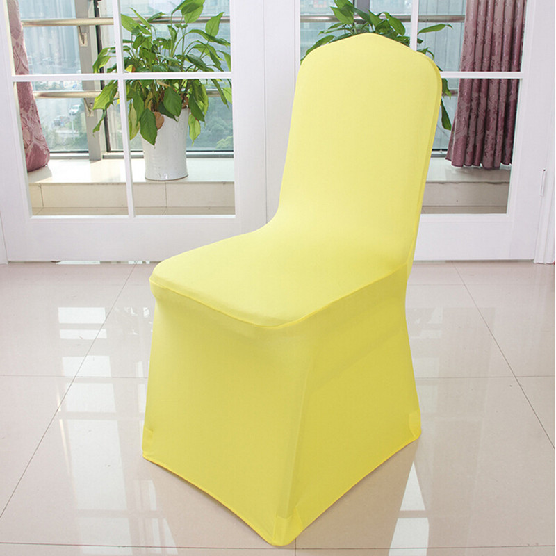 White Wedding Chair Cover Machine Washable Spandex Pure Colors Stretch Whole Lycra Covers For Party Xmas In From Home Garden On