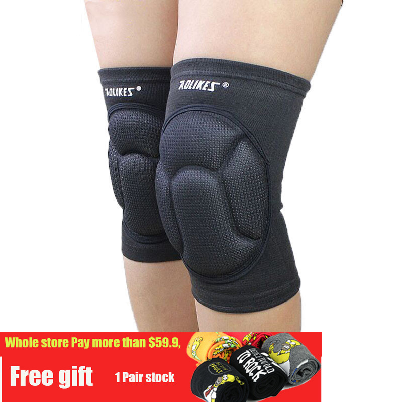 Thickening Kneepad Football Volleyball Extreme Sports Knee Pad Eblow Brace Support Lap Protect Cycling knee protector motorcycle e2275swj