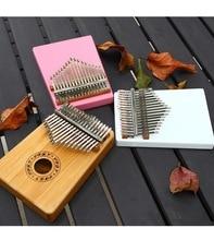 Thumb piano Kalimba 17 Keys 10 Keys Solid Wood Mahogany Body African Finger Percussion Keyboard Kids Mini Instrument
