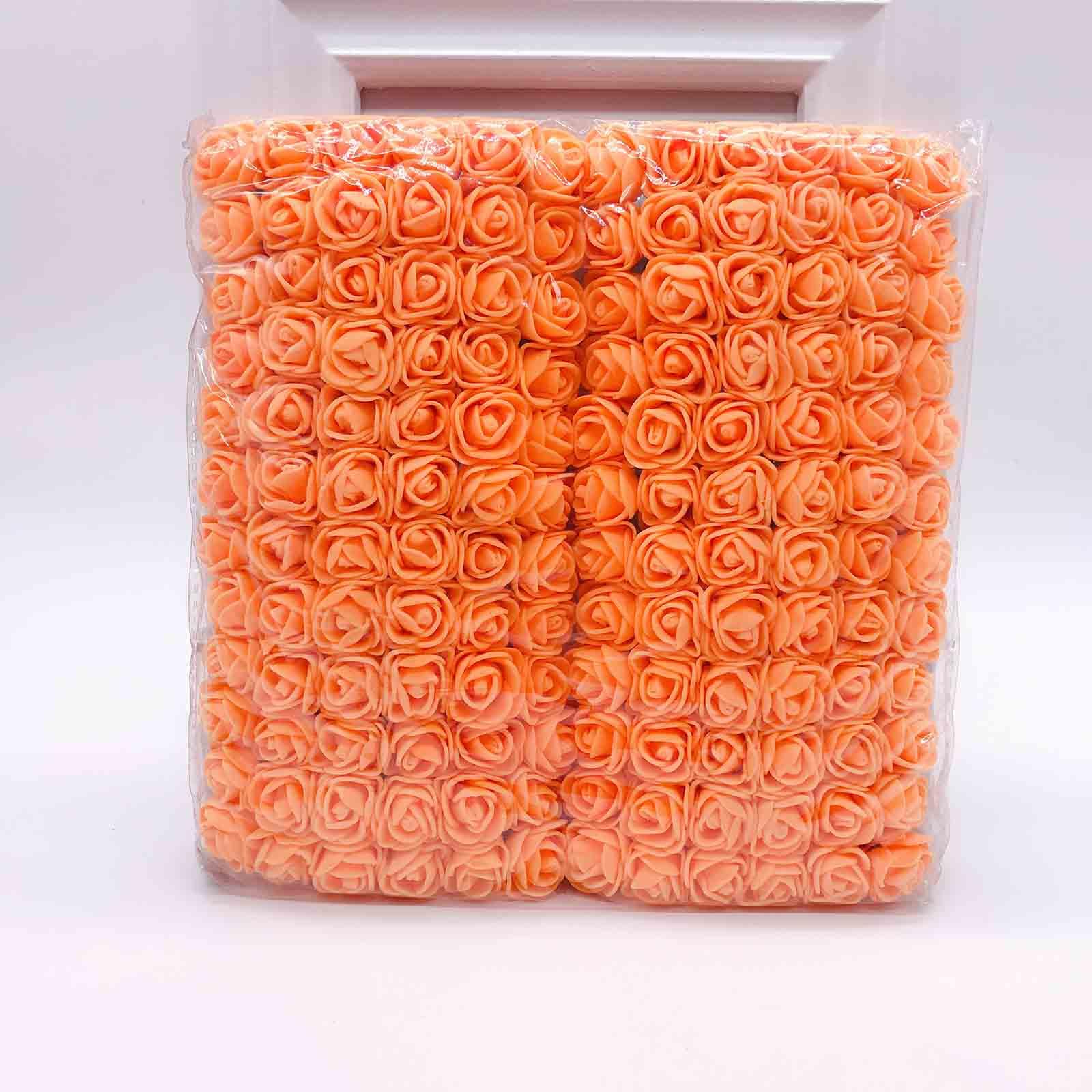 144 шт 2 см мини-розы из пенопласта для дома, свадьбы, искусственные цветы, декорация для скрапбукинга, сделай сам, венок, Подарочная коробка, дешевый искусственный цветок, букет - Цвет: 4