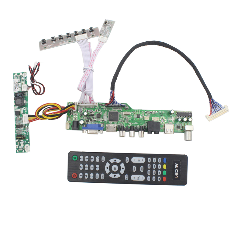 M6V5 LCD TV controller board support TV AV VGA Audio USB HDMI for 19.5 inch lcd pane 1600x900 MV195WGM-N10 LM195WX1-SLA1 repair