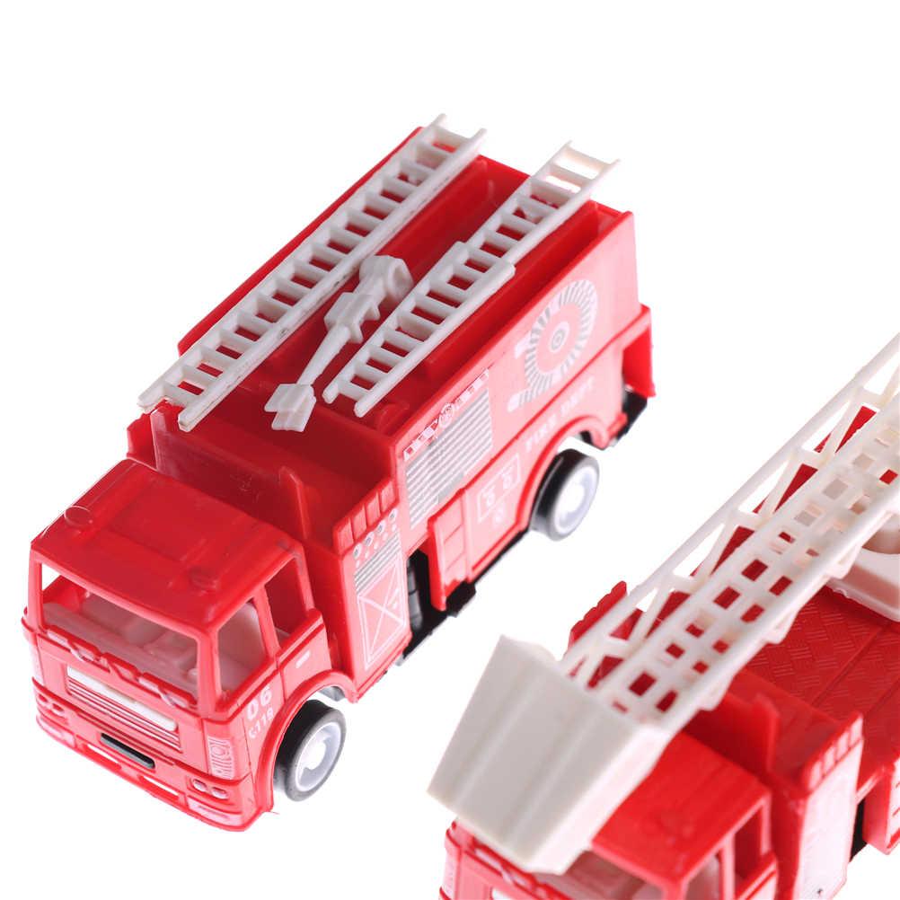 Couleur rouge Mini Diecasts modèle voiture pompier garçon jouet voiture voitures Machines enfants jouets 14*4.2*6.8 cm