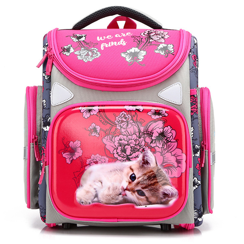 2019 Cartoon Orthopedic School Backpacks for Girls Boys Tank Car Pattern Backpack Student School Bags Mochila