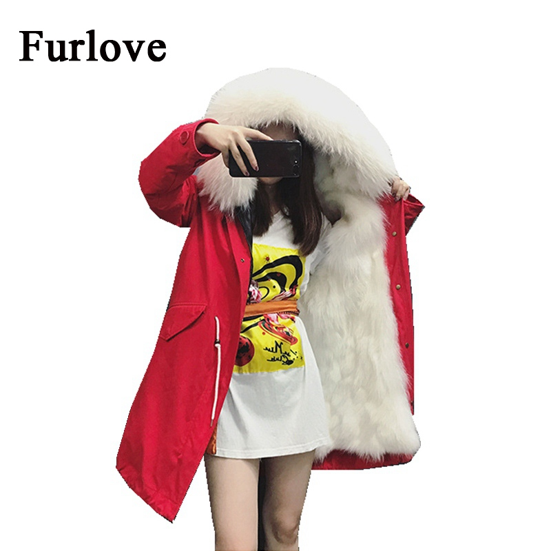 Women jackets red parka natural raccoon fur collar hooded long coat thick warm casual parkas real fox fur lining winter jacket red shell warm raccoon fur collar coat women winter real fox fur liner hooded jacket women long parka female ladies fp891