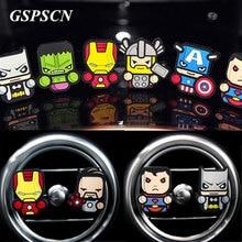 GSPSCN Cute Avengers Car Freshener Perfum Car Parfume air freshener Outlet perfumes Auto Air Condition Vent