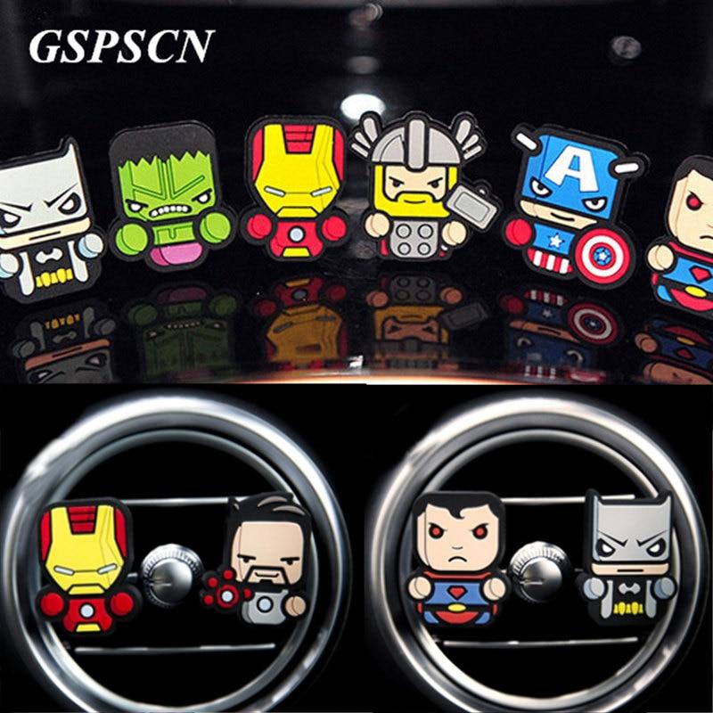 GSPSCN Cute Avengers font b Car b font font b Freshener b font Perfum font b