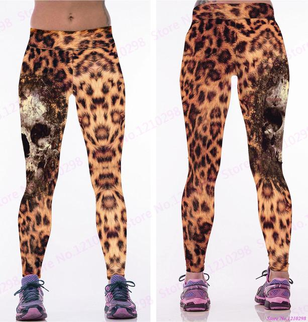 8e8aae7562dc0 Newest Women Leopard Female Leggings Gym Fitness Skinny Running Pants Skull  Yoga Pants Trousers Jogging Leopard Tight Print