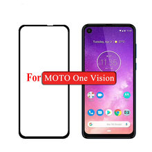 For Motorola One Vision moto 9D 6D 5D Full Glue Cover Tempered Glass Screen Protector CASE for Power film