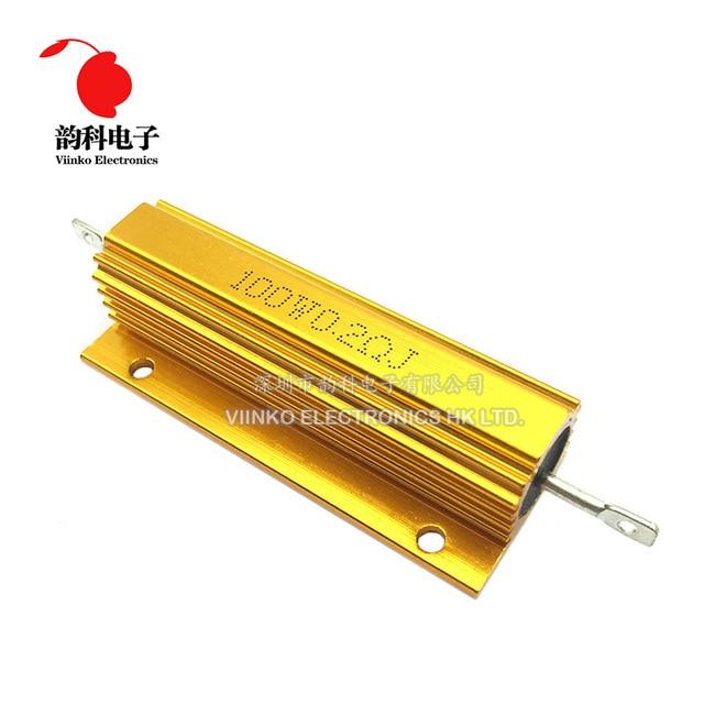 100W aluminiowa obudowa przypadku rezystor drutowy 0.01 ~ 100K 0.05 0.1 0.5 1 2 4 6 8 10 20 100 150 200 300 500 1K 10K ohm