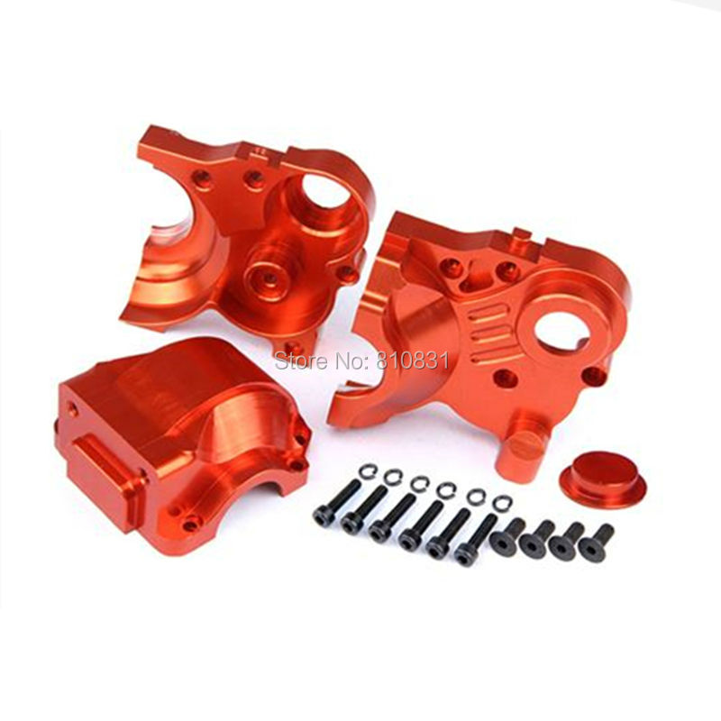 Baja CNC alloy Complete 3 piece Transmission Metal gear box set Fits HPI Baja 5B, 5T, SS, 2.0 double 2 spring clutch 7000rpm clutch assembly with alloy clutch mount fits 23 30 5cc gas engine zenoah cy hpi baja 5b ss 5t 5sc