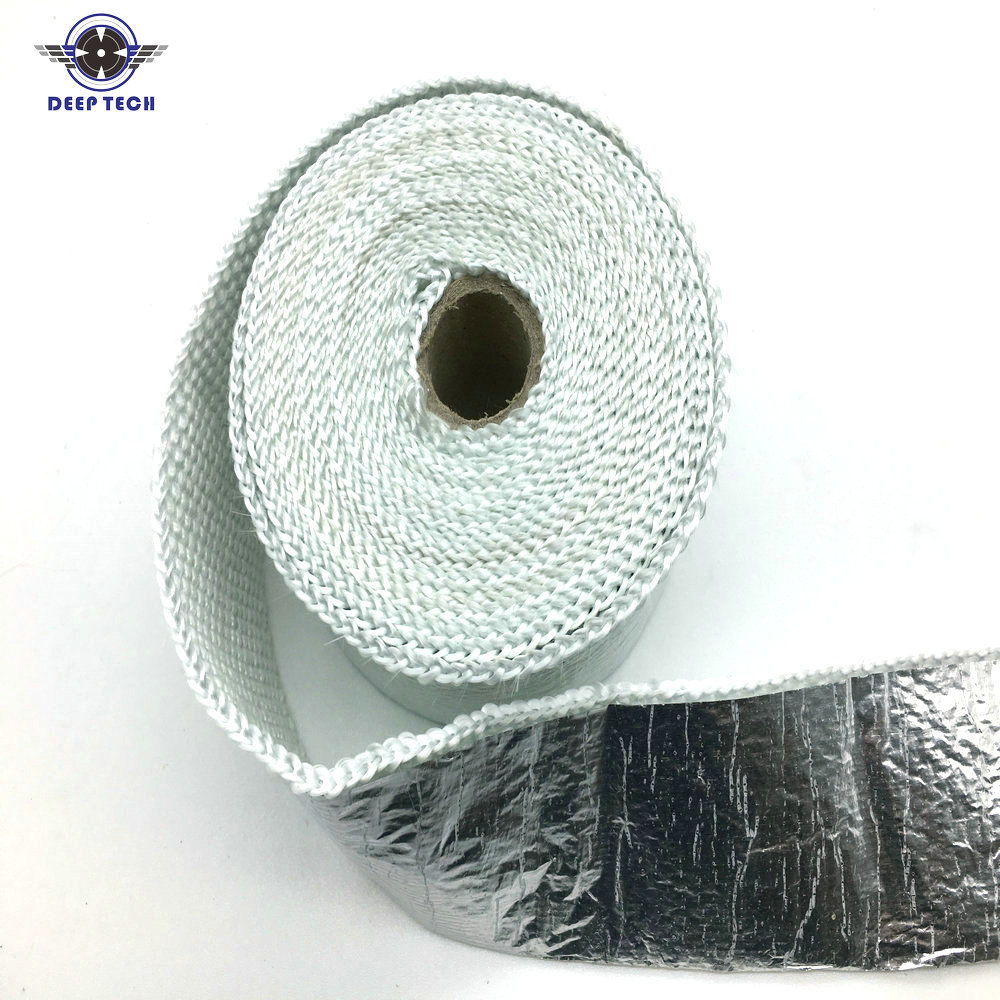 2x5m Aluminum Foil Fiberglass Exhaust Muffler Pipe Header Heat Wrap 15m high temperature header manifold exhaust wrap fiberglass roll orange page 3