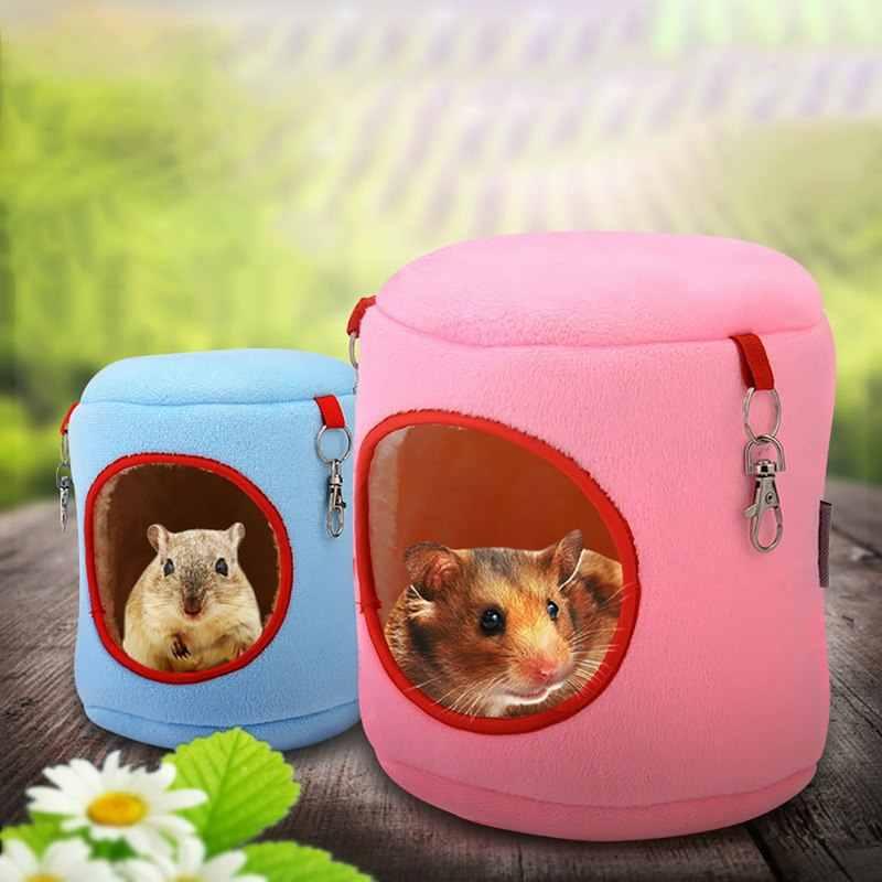 Hoomall hamak wiszące łóżka szczeniaczek kotek kot żywe gniazdo klatka Fannel bawełna psia buda dla szczura chomika wiewiórka artykuły dla zwierząt