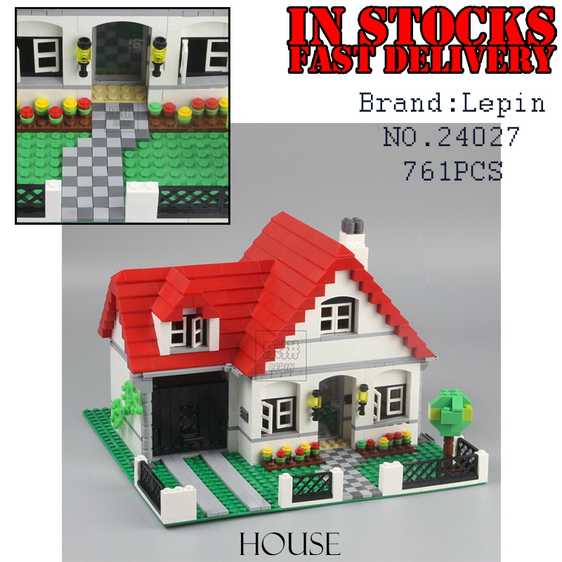 Lepin 24027 761Pcs Genuine Building Series The American Style House Set children Educational Building Blocks Bricks Toys 4956 a toy a dream lepin 24027 city series 3 in 1 building series american style house villa building blocks 4956 brick toys