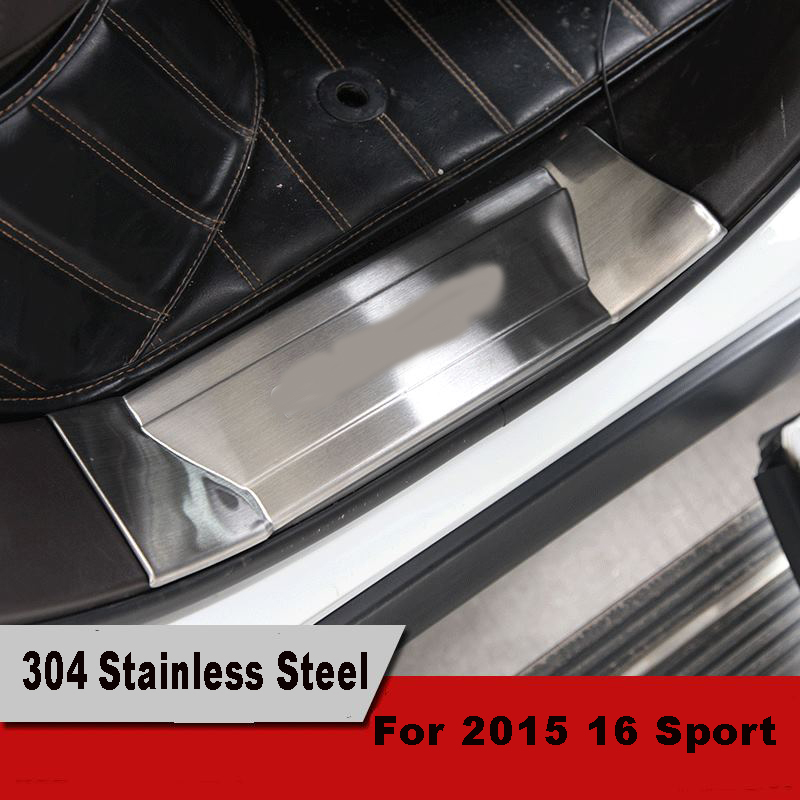 Stainless steel accessories LED scuff door sill plate welcome pedal For 2015 2016 Land Range Rover Sport Chrome Styling stainless steel car door sill scuff plate trim cae styling for land rover range rover sport 2006 2007 2008 2009 2010 2011 2012
