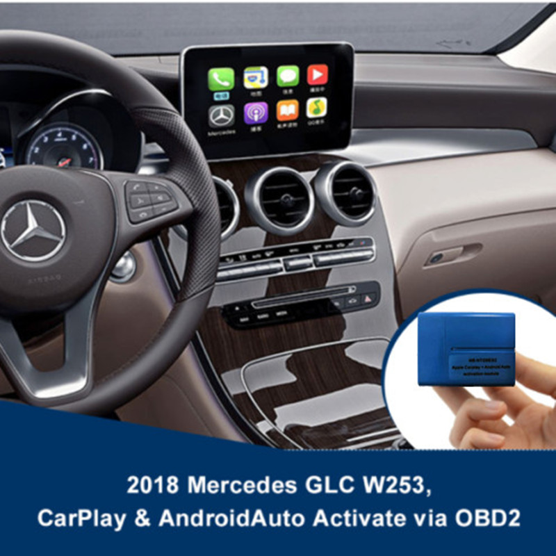 2017--2018 FOR Mercedes CarPlay Android Auto Activation Via OBD W205 C-class W253 GLC