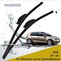 "Lâminas de limpador para mitsubishi lancer (estate & saloon, a partir de 2008) 24 ""+ 16"" fit padrão J braços gancho wiper"
