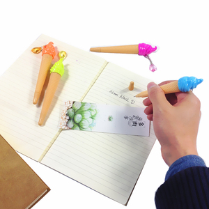 Image 3 - 36pcs/lot lovely Ice Cream Gel Pen with colorful pendant 0.5mm Black pens Fashion Promotion Wholesale