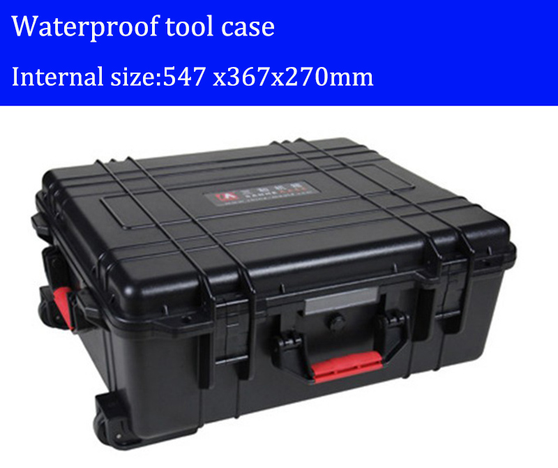 Tool case toolbox with wheels Impact resistant sealed waterproof  ABS case security equipment Spare parts kit  with pre-cut foam tool case gun suitcase box long toolkit equipment box shockproof equipment protection carrying case waterproof with pre cut foam