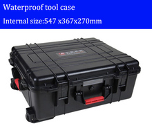 Tool case toolbox with wheels Impact resistant sealed waterproof  ABS case security equipment Spare parts kit  with pre-cut foam