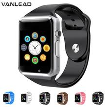 A1 relógio de pulso bluetooth relógio inteligente esporte pedômetro com câmera sim smartwatch para android smartphone