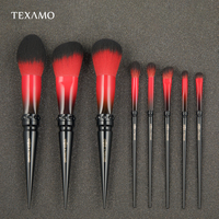 Texamo Make Up Brushes Set 8 Pcs Cosmetic For Powder Eyeshadow Blush Foundation Brush Kit Dark Elf Makeup Brushes Tool K