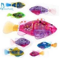 OnnPnnQ Robotic Fish Activated Battery Powered Swimming Boy Bath Pet Toys Aquarium Decor