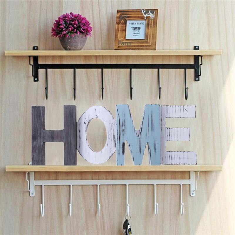 HOME Letters Wooden Alphabet Painting Board DIY Craft ...