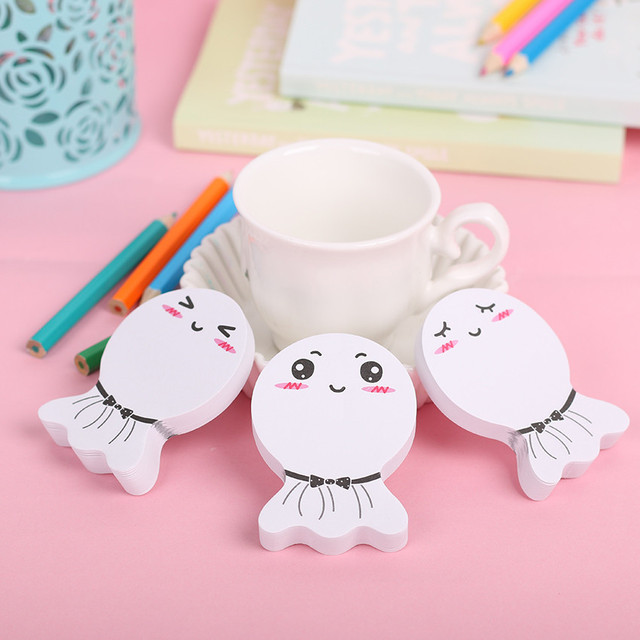 3 PCS Rosto Sorriso Kawaii Papel Etiqueta Memo Pad Post It Papelaria Mini Office Xpress Pode Rasgar Notas Pegajosas