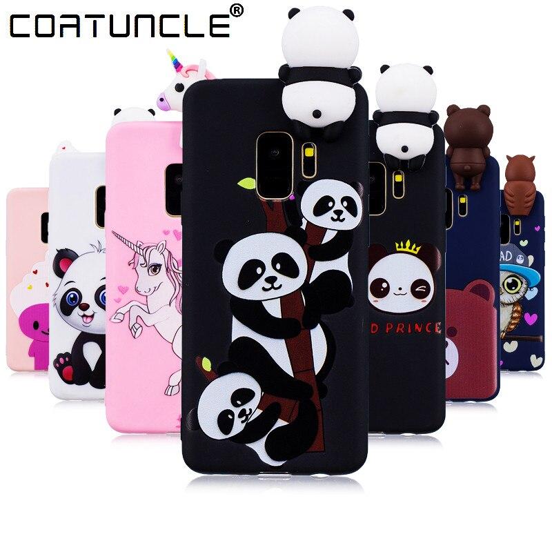 Galleria fotografica Phone Cases For Fundas Samsung Galaxy S9 plus Case Soft TPU Candy Color panda Cartoon Back Cover for Coque Samsung S9 Case