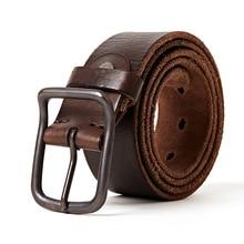 Italy Vegetable Leather Men Belt Cowskin Waistband Men Vintage Leather Strap Classice Pin Buckle Belt scabbard leather case belt hanging buckle belt leather italy vegetable tanned leather belt buckle leather knife belt