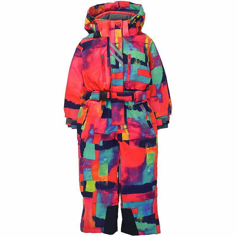 2020 เด็กฤดูหนาวกลางแจ้งOne-Pieceชุดสกีลมและหิมะ,Plusกำมะหยี่หนา,เหมาะสำหรับ 3-10 ปี