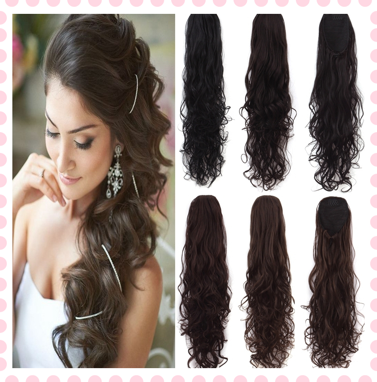 1pc Synthetic Curly Ponytail Hair Extension Ponytails Pony Tail 28