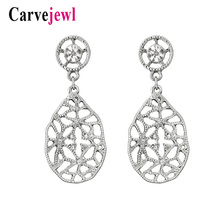 Carvejewl Drop dangle Earrings metal round irregular tear drop rhinestone earrings for women girl jewelry unique fashion earring цена и фото