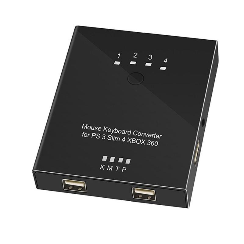 Contrôleur de jeu complet pratique souris clavier convertisseur adaptateur pour Ps4 (Pro)/Ps3/Xbox One/Xbox 360 Switch