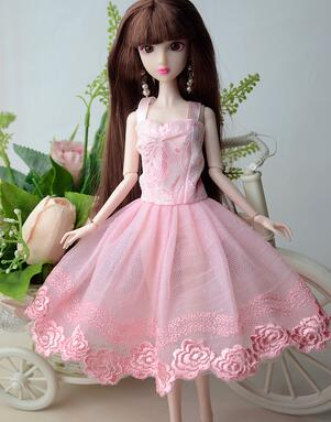 case for Barbie accessories, for Barbie doll clothes clothing dress elegance elegant blue dress on the red carpet