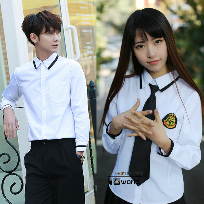 Short sleeves boy japanese school uniform fashionable Long sleeves korean school uniform british school uniforms for girls boy