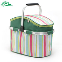 Jeebel 26L Picnic Basket Portable Thermal Large Capacity insulation camping for food outdoor box beer travel refrigerator