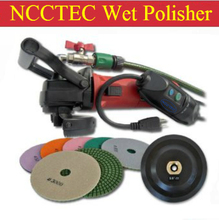 "a combo of 5"" angle water WET polisher+Euro plug connection+A set of 5"" polishing wheels+5"" stick pad/125mm angle grinder M14"