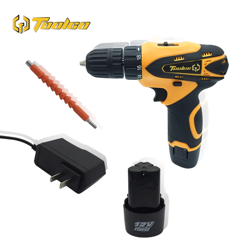 Toolgo 12V Electric Cordless Drill DC Lithium Battery Electric Screwdriver Double Speed Multi-function Cordless Power ToolsToolgo 12V Electric Cordless Drill DC Lithium Battery Electric Screwdriver Double Speed Multi-function Cordless Power Tools