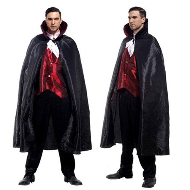 Spedizione Gratuita Per Adulti Uomo Costume da Vampiro per Halloween Del  Partito di Travestimento Fantasma Diavolo 226a7fd5a01b