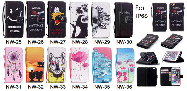 Cases Cover For Apple iPhone 6S 6 4.7inch with Card Slots Stand Lanyard