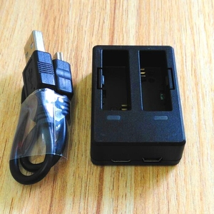 Image 2 - SJCAM aksesuarları orijinal SJ6 piller şarj edilebilir pil çifte şarj makinesi pil kutusu SJCAM SJ6 Legend eylem spor kamera