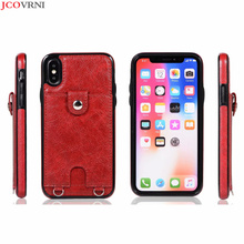 JCOVRNI стильный ремешок задняя крышка для iphone XR XS XSMAX 7 7 plus 8 8 plus с функцией упаковки карт полностью защищает чехол для телефона