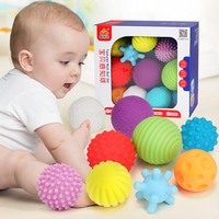 Baby Ball Textured Multi Ball Set Develop Tactile Senses Toy Baby Touch Hand Teether Ball Training Massage Soft Balls