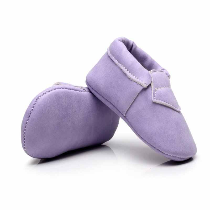 Лидер продаж, из искусственной замши, для новорожденных, для маленьких мальчиков и девочек детские мокасины мягкие, с бахромой, с мягкой подошвой, нескользящие носки для малышей, детская кроватка обувь; Новинка