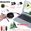 10m Android Endoscope Camera 3 Colors Snake Tube Pipe Inspection Computer Android Phones Borescope USB Endoskop