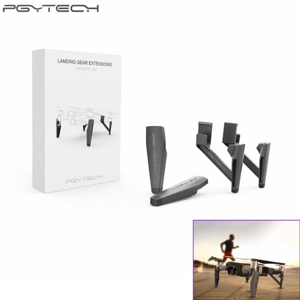 1set PGYTECH Landing Gear Riser Extended Landing Gear Heightened Leg for DJI MAVIC Air pgytech portable foldable landing pad for dji mavic air
